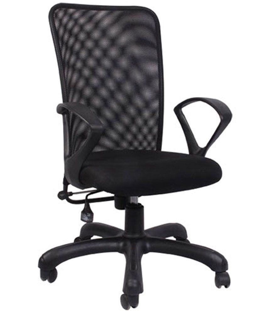 Marvelous Hetal Enterprises Medium Back Metal Natural Finish Office Chair