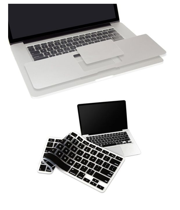 Pindia Apple MacBook Pro 15 15.4 Inches MC373HN/A & MC373LL/A Palm Guard with Black Keyboard Cover