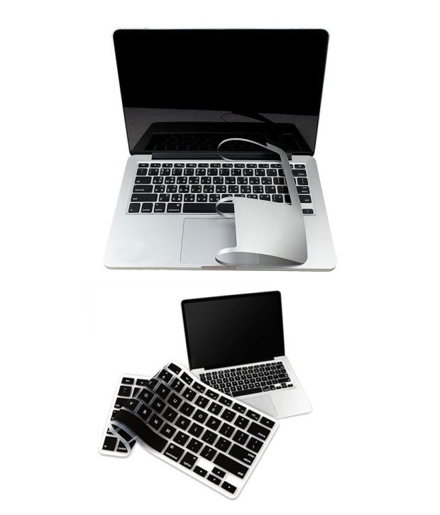 Pindia Apple MacBook Retina 13 13.3 Inch MGX82HN/A & MGX82LL/A Full Palm Guard with Black Keyboard Cover