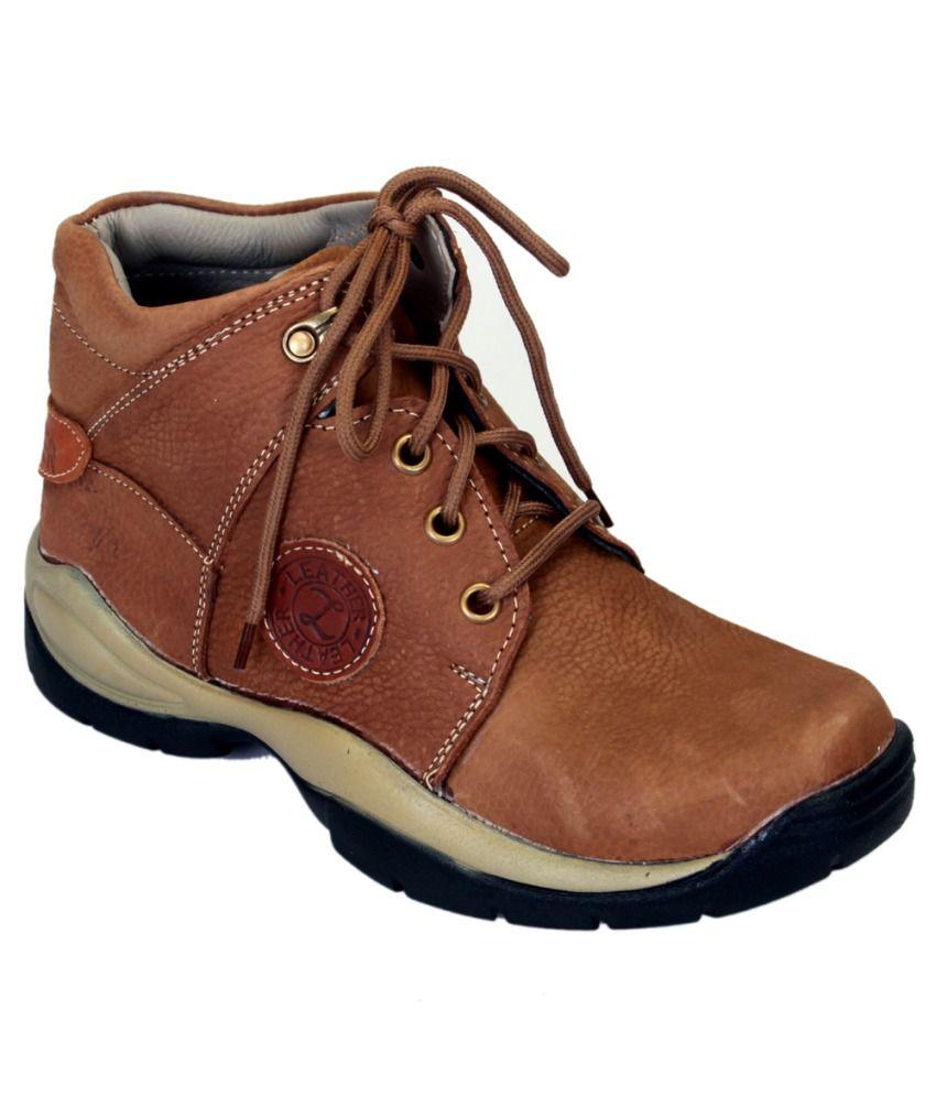 Shoebook Tan Mid Length Boots