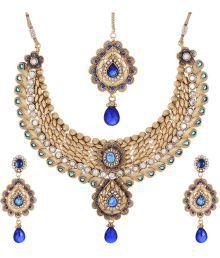Shahenaz Designer Gold Plated Bridal Jewellery Set