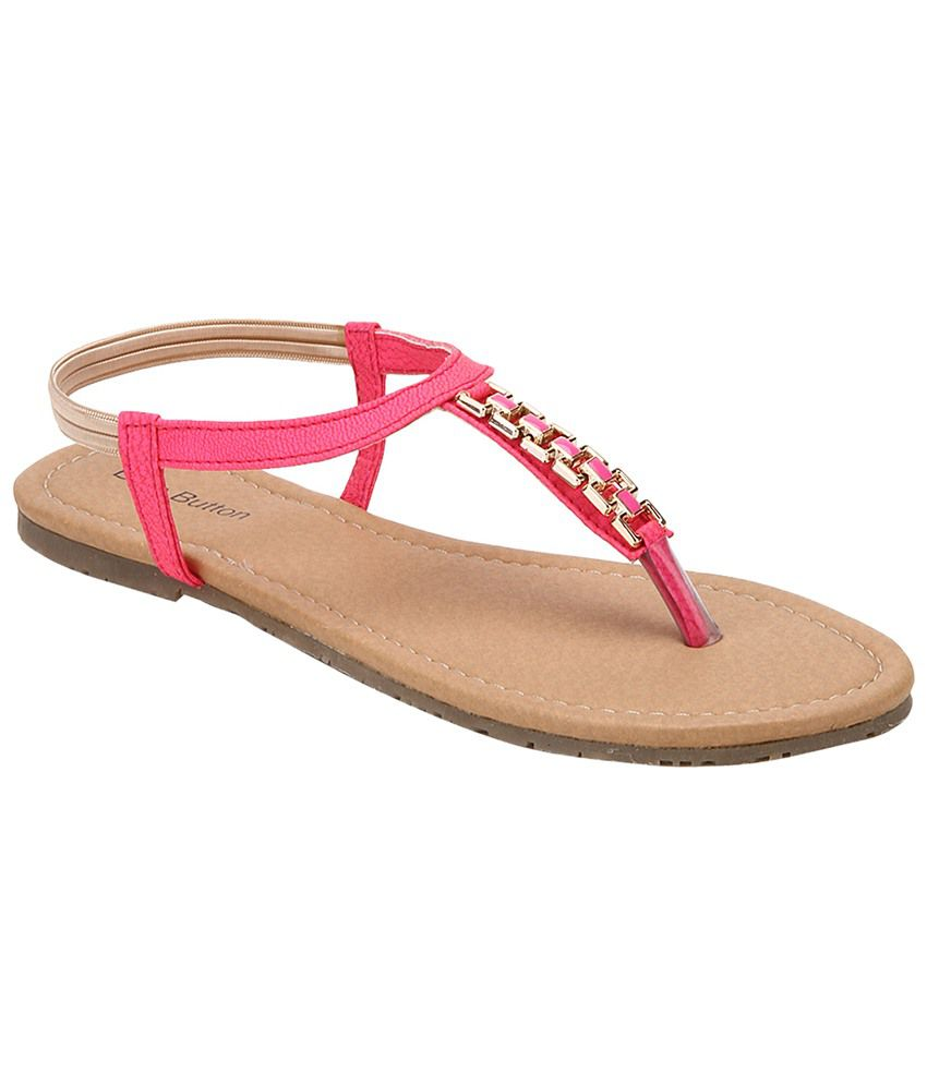 Blue Button Pink Sandal