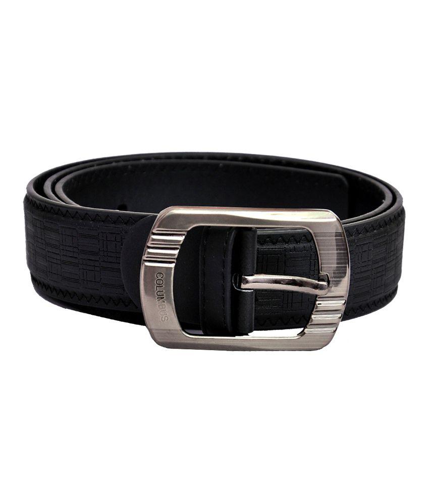 Domestiq Black Casual Belt For Men