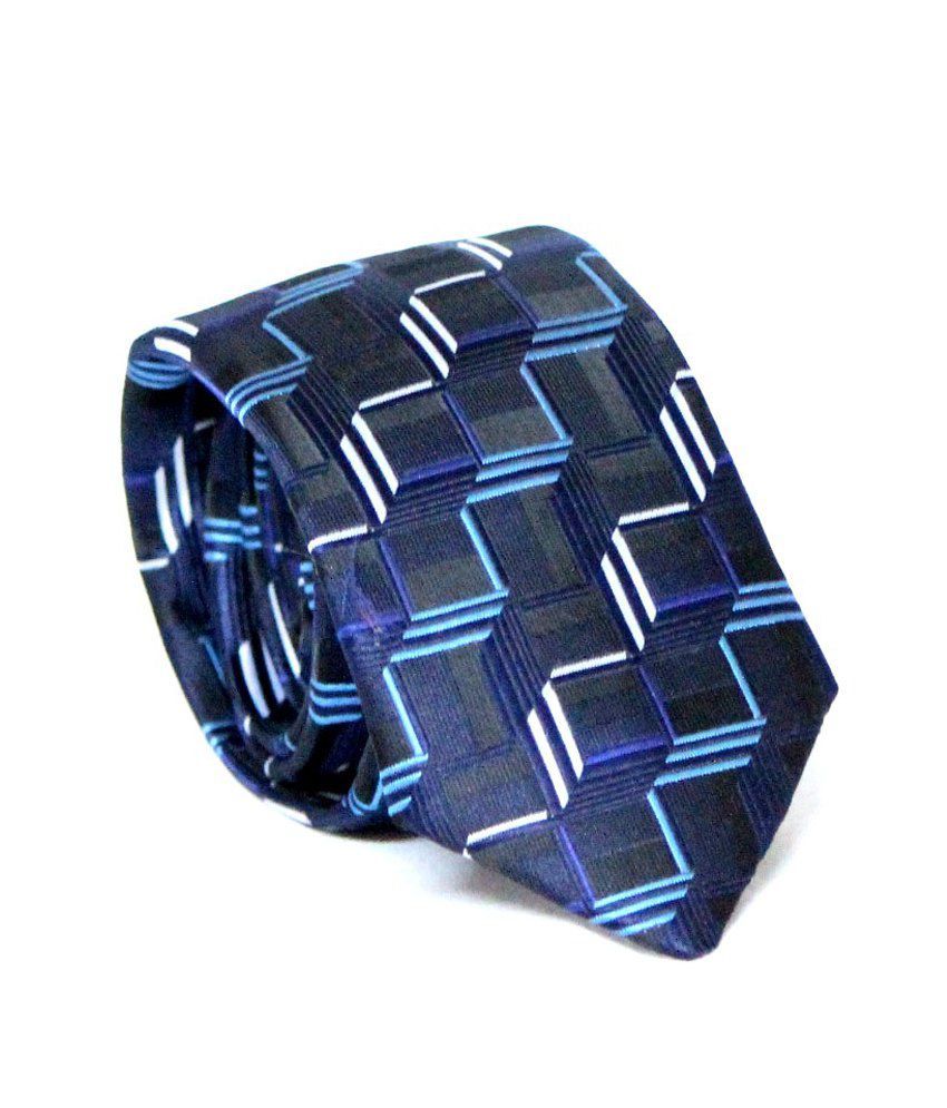 Combo Of Narrow Micro Fiber Necktie, Cufflink And Pocket Square Gift Set Blue