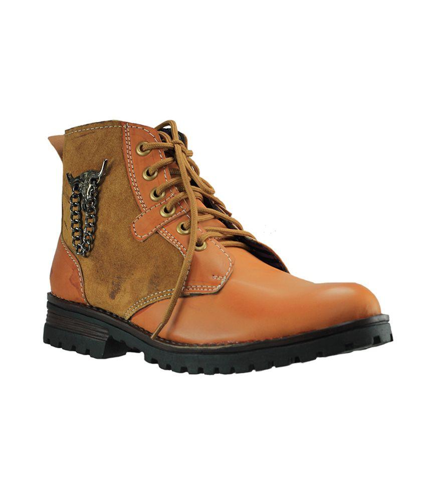 Dziner Lentus Tan Men Boot