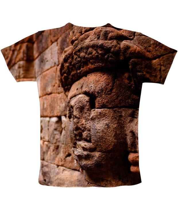 Freecultr Express Brown Cotton Blend T-shirt
