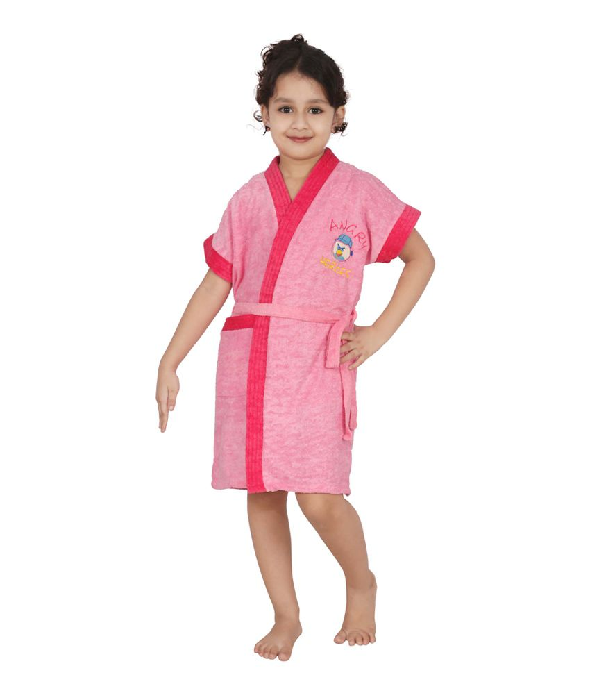 593804774 Buy Superior Pink Kids Bathrobe Online at Best Prices in India - Snapdeal