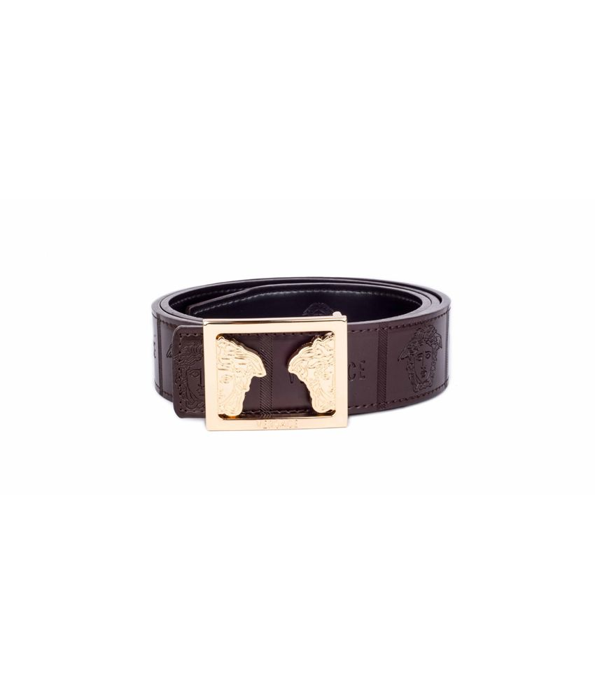 Versace Men's Leatherite Stylish Belt In Brown Colour