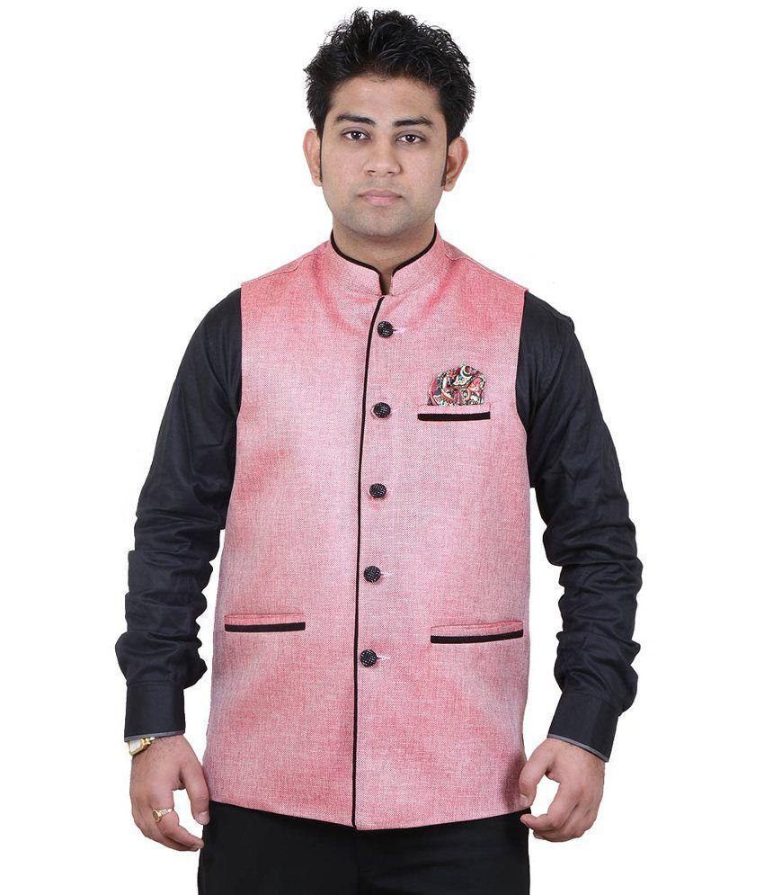 Getabhi Pink Jute Modi Jacket - Buy Getabhi Pink Jute Modi Jacket Online At Best Prices In India ...