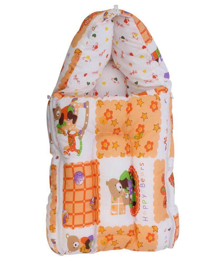 Glitz Baby 3 In 1 Baby Twinkle Star Design Orange Carrier Bed