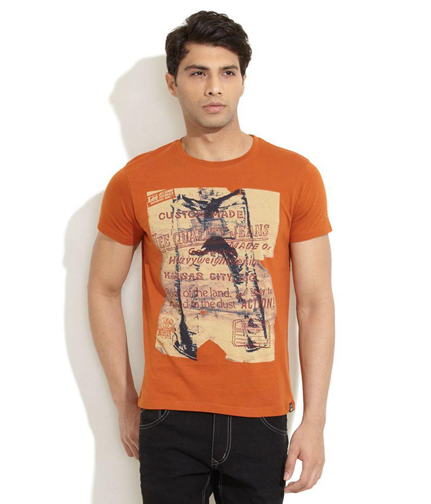 Lee Brown Cotton  T-Shirt