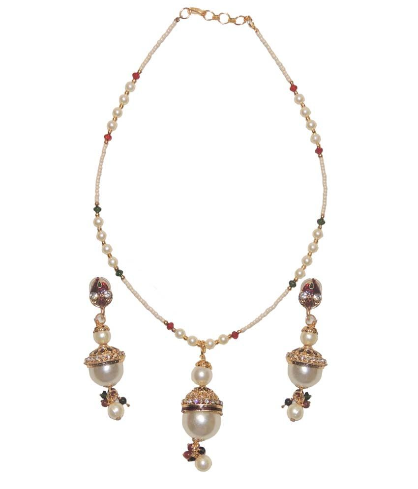 new latest design white pearl necklace set buy new latest