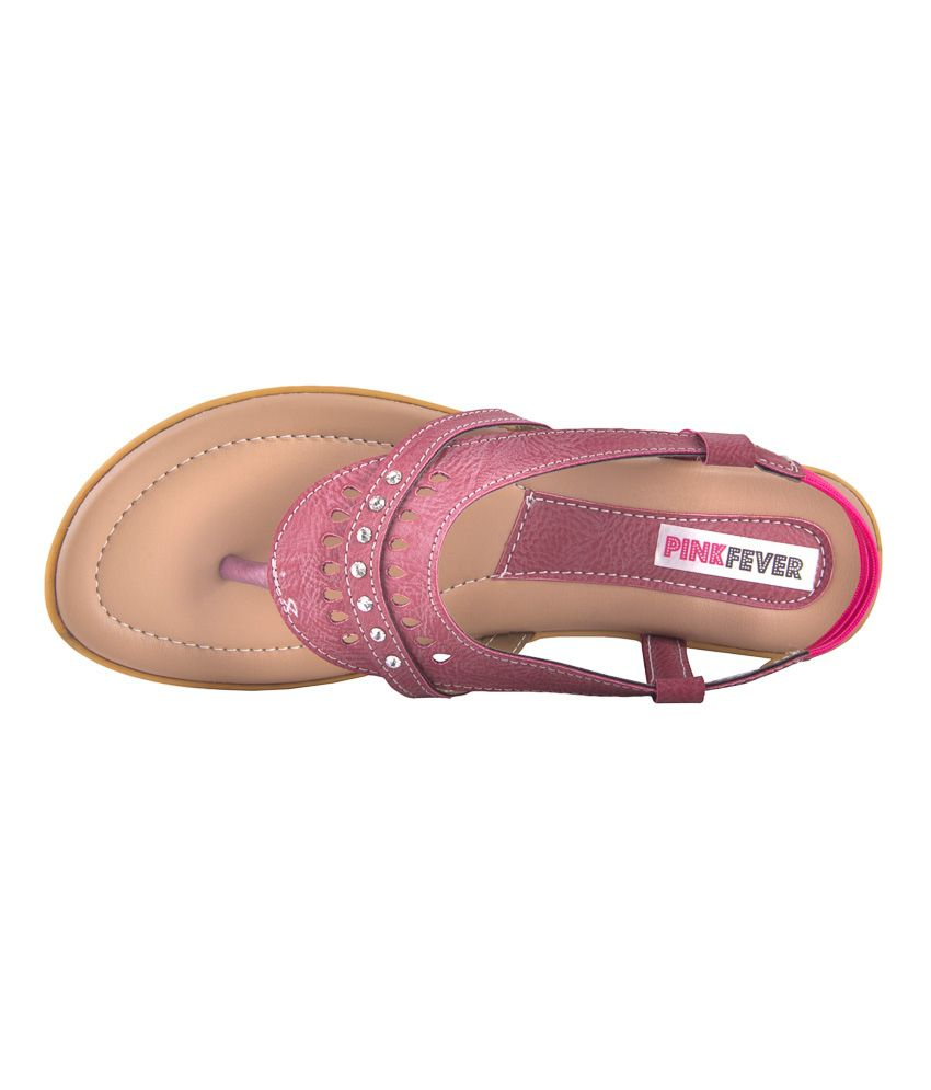 1bb01000e2d Pink Fever Pink Flat Sandals Price in India- Buy Pink Fever Pink ...