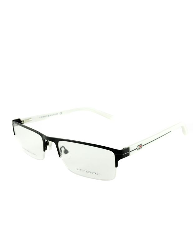 84162d6222 Tommy Hilfiger White Half Rim Rectangle Eyeglasses - Buy Tommy Hilfiger  White Half Rim Rectangle Eyeglasses Online at Low Price - Snapdeal