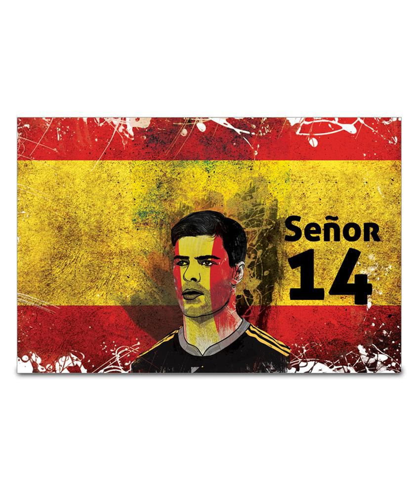 Shopmantra xabi alonso spain football poster buy for Best place to buy posters in store