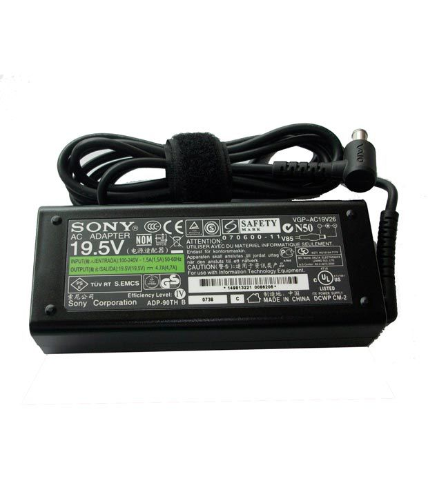 Arb Laptop Adapter For Sony Vpcca3s1r/r Vpcca3s1r/w 19.5v 4.74a 90w Connector Pin : 6.5 X 4.4 Mm