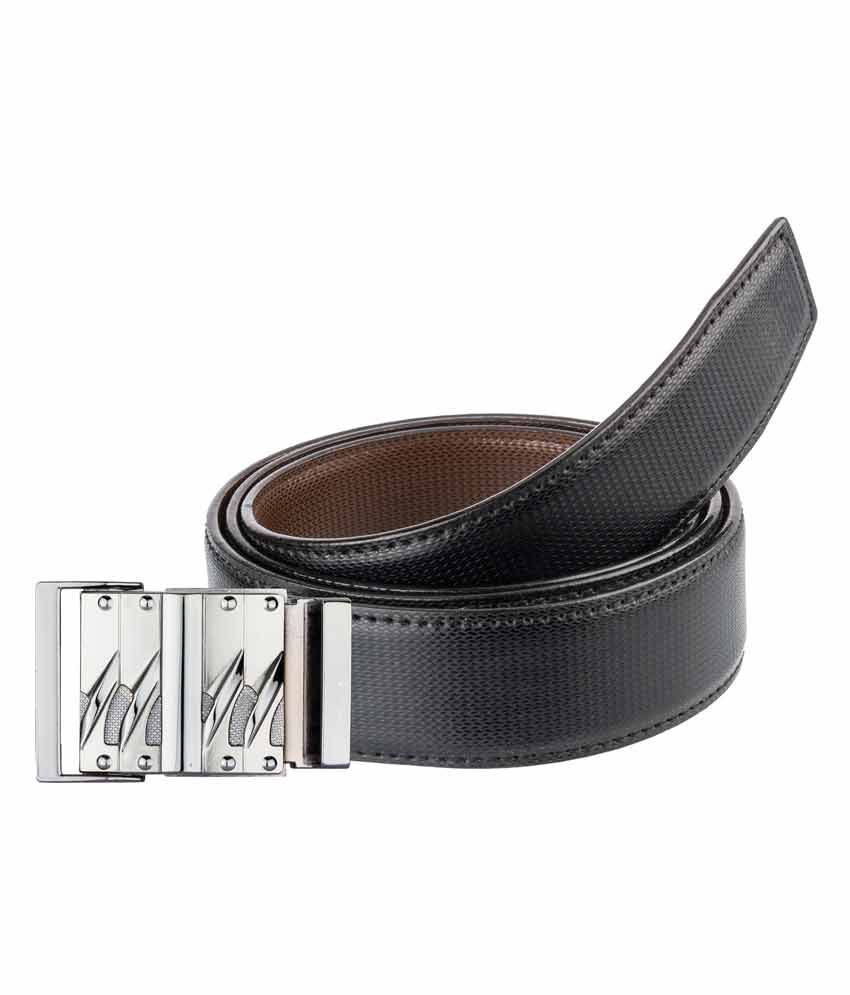 Bigzee Multicolour Leather Reversible Leather Belt For Man