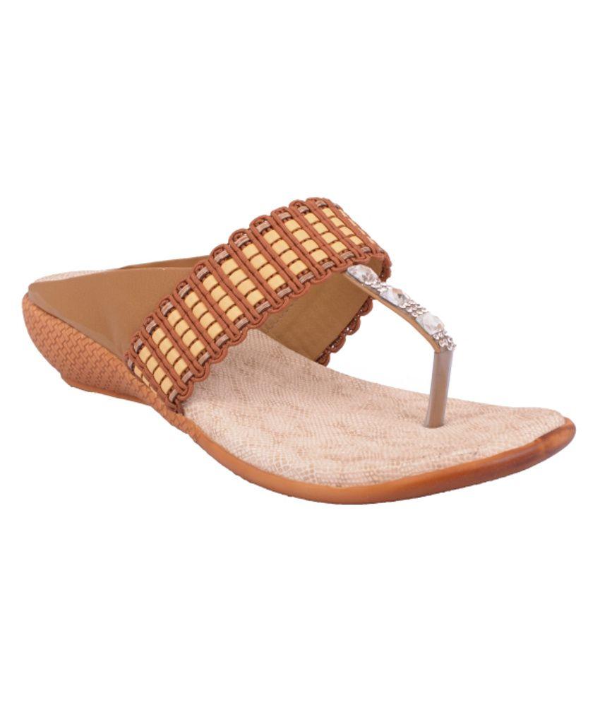 Grafion Brown Stylish Heeled Slip-on