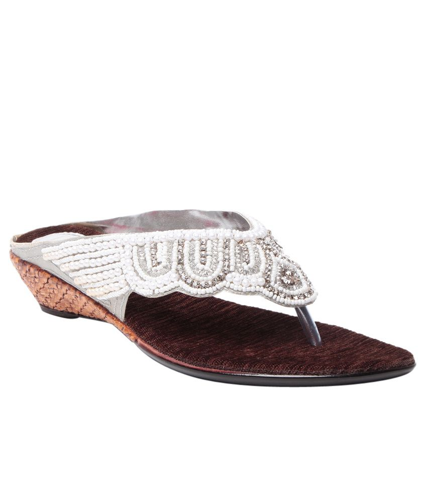 Bluet Silver Wedges Heeled Slip-on