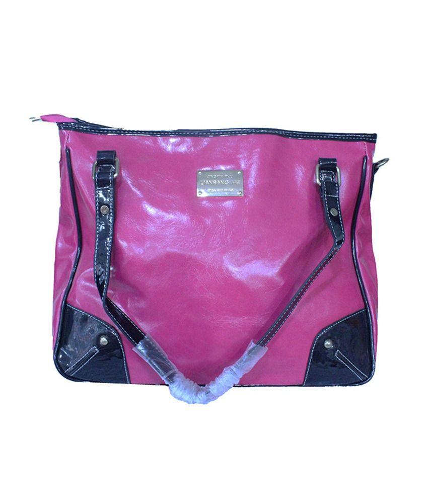 Royal Pink Non Leather Womens Handbags