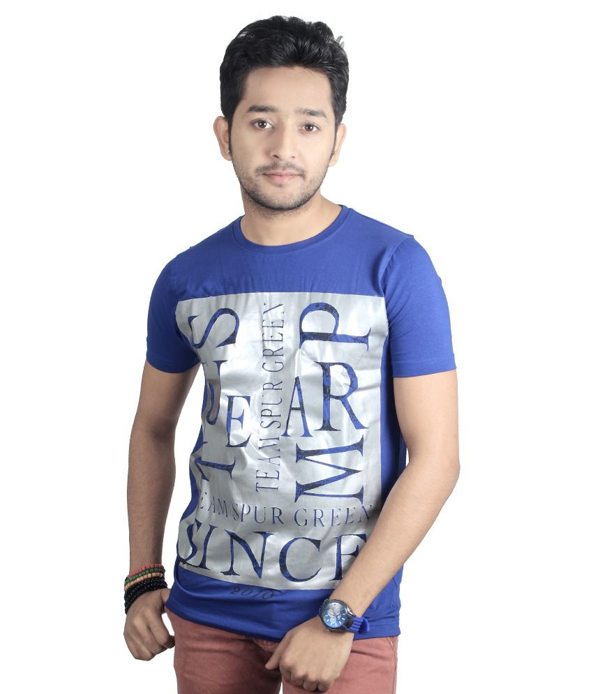 Spur Stratchable Blue Fashion Tee