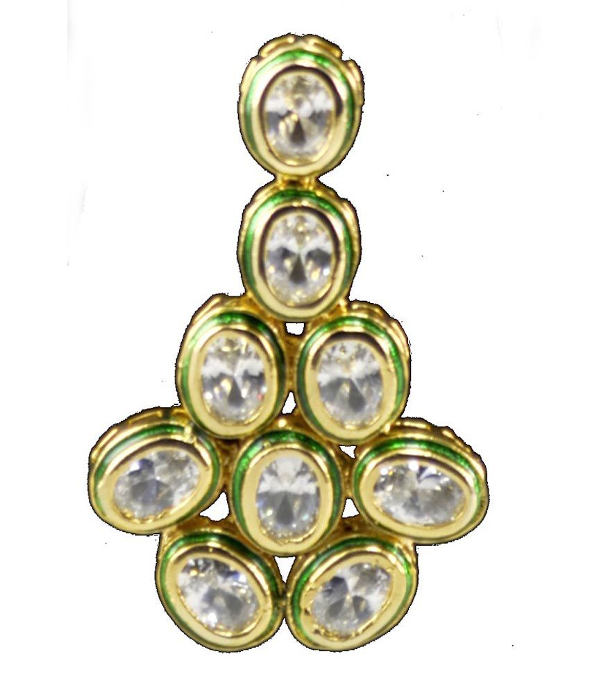 Swarna Jewels Double Layered Kundan Ad Set With Elegant Long Size Earrings.