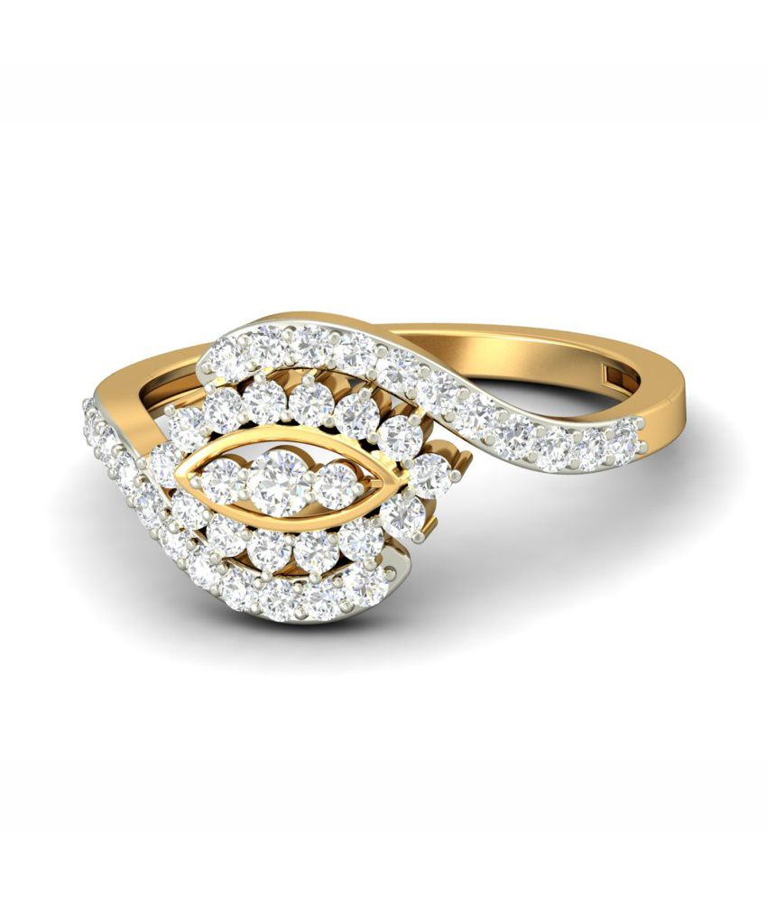 WearYourShine PC Jeweller 18KT Gold The Luna Diamond Ring