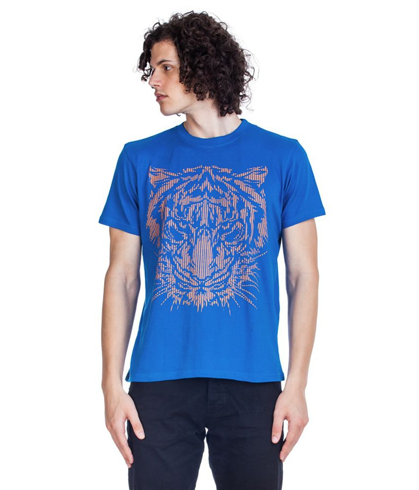 Zovi Blue Cotton T-shirt