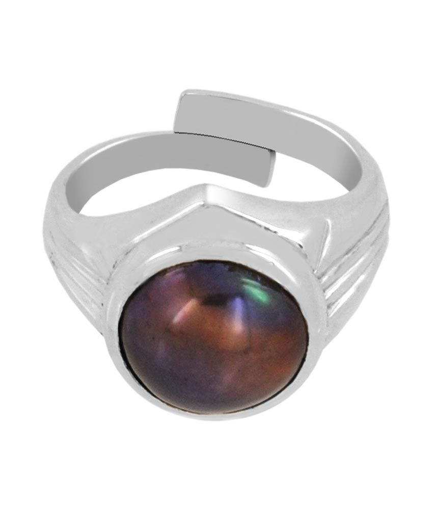 Barishh 5.25 Ratti Certified Black Pearl Ring