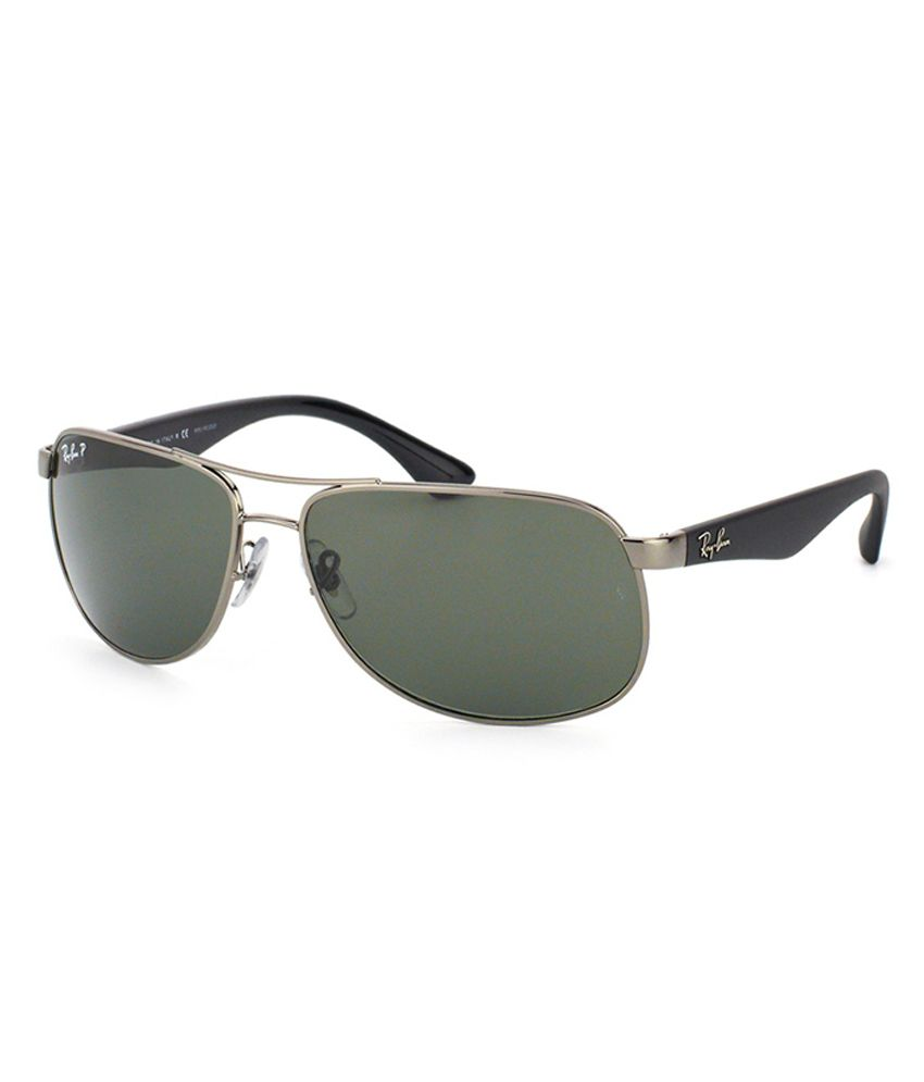 price ray ban aviator  Ray-Ban Green Polarized Aviator Sunglasses (RB3502 004/58 61-14 ...