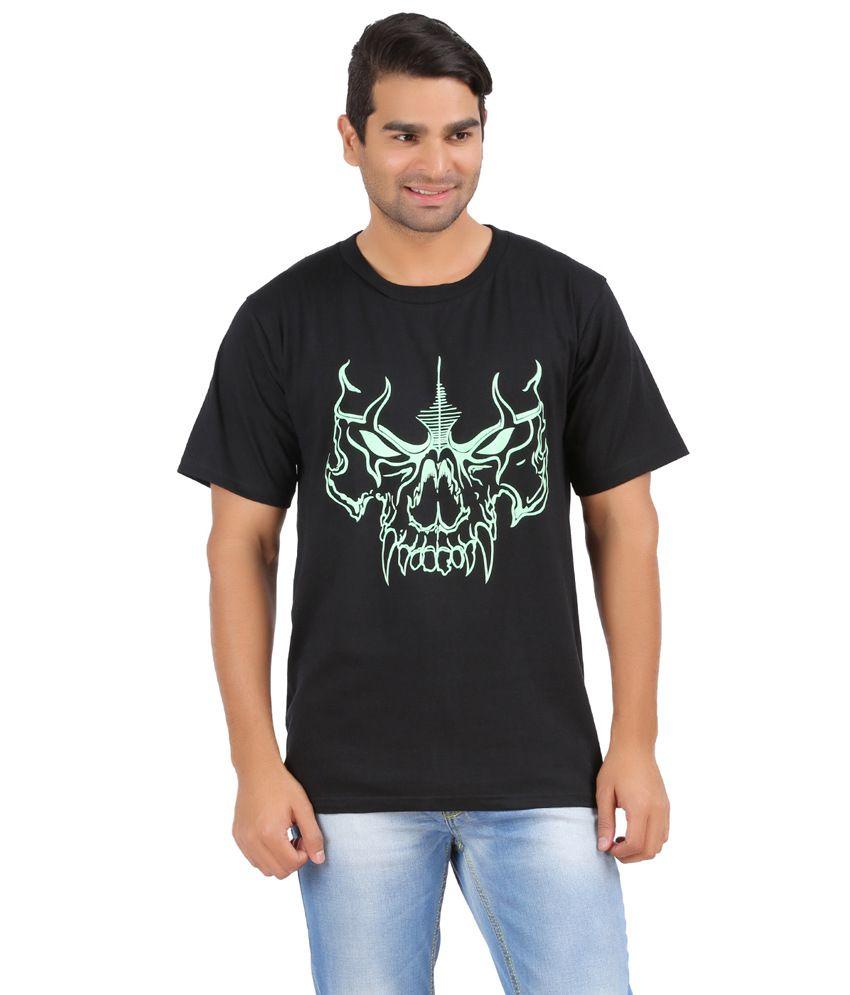 Upbeat black cotton printed mens t shirt buy upbeat for Mens black shirts online