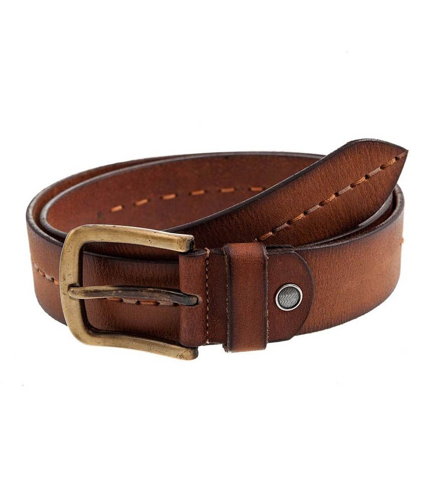 Hornbull Tan Leather Casual Belt