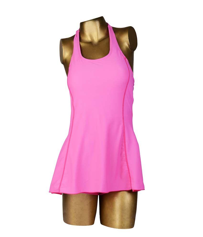 Indraprastha Bright Pink Halter Swimsuit Swimwear/ Swimming Costume