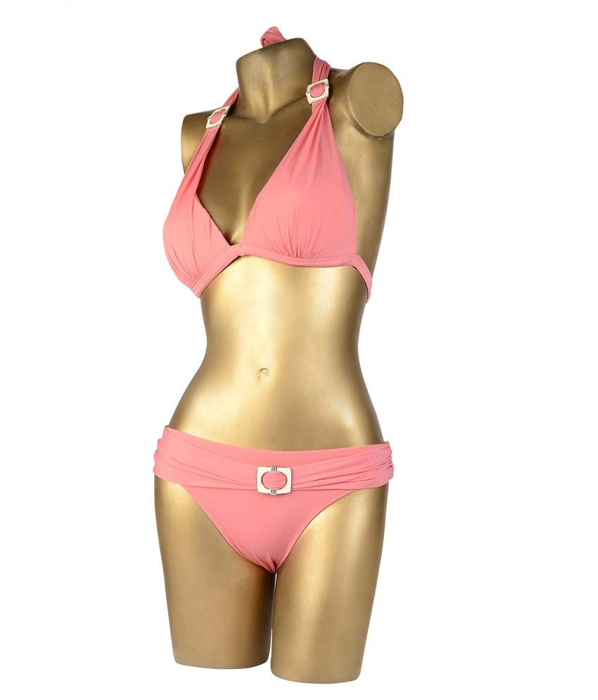 Indraprastha Peach Bikini Swimwear/ Swimming Costume