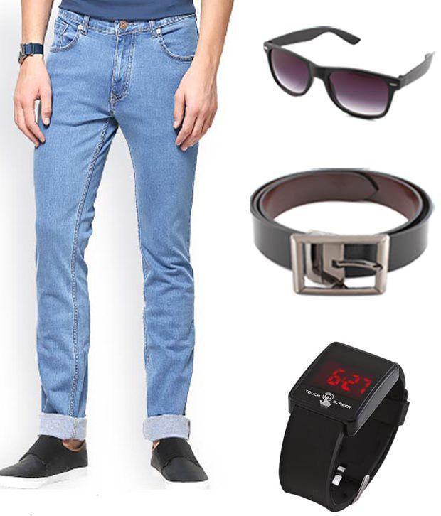 Keepsake Combo Of Jeans Watch Belt Wayfarer Buy Online ...