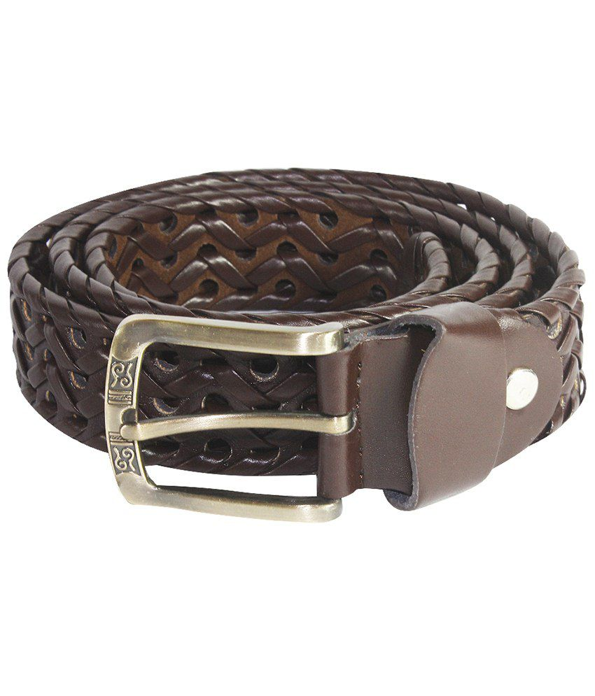 La Decor Brown Casual Textured Belt