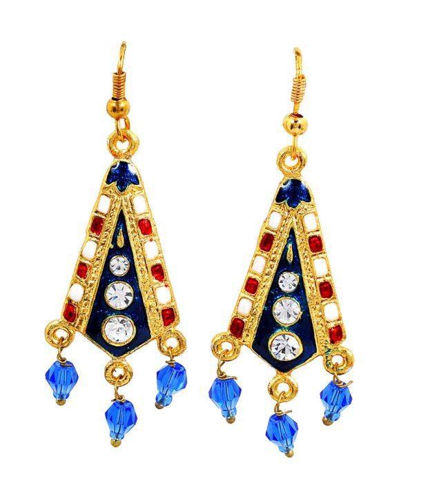 Maayra Majestic Antique Hanging Dangle Earrings