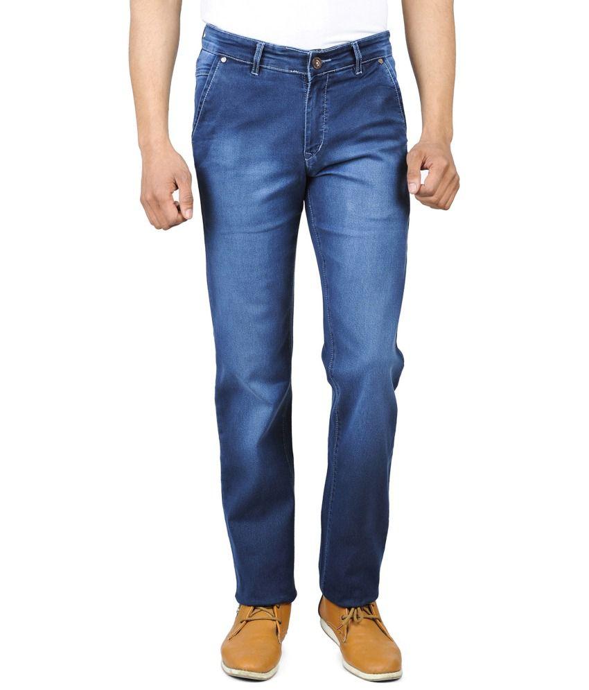 Wintage Blue Cotton Regular Men Jeans