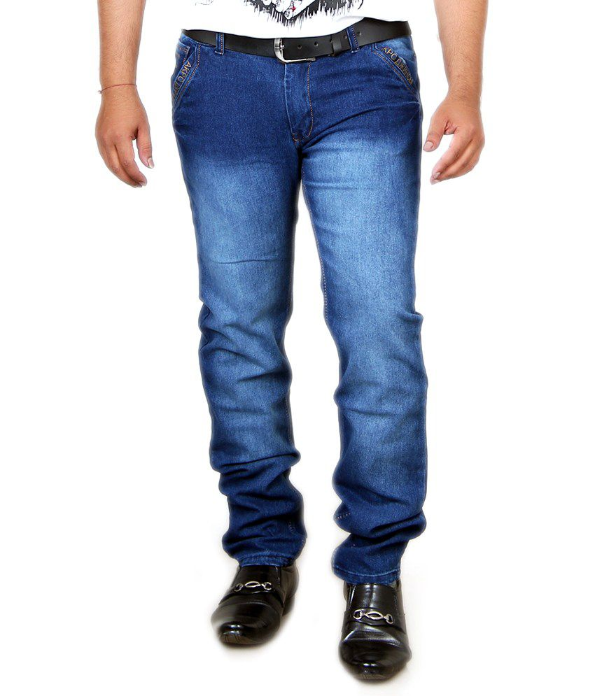 Acro Blue Cotton Strech Jeans
