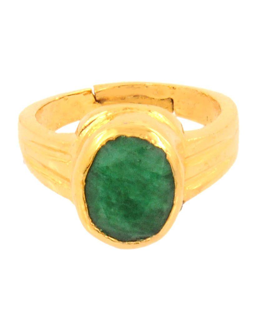 Barishh 9.25 Ratti Certified Emerald Gemstone Astrolgocial Ring In Panchdhatu