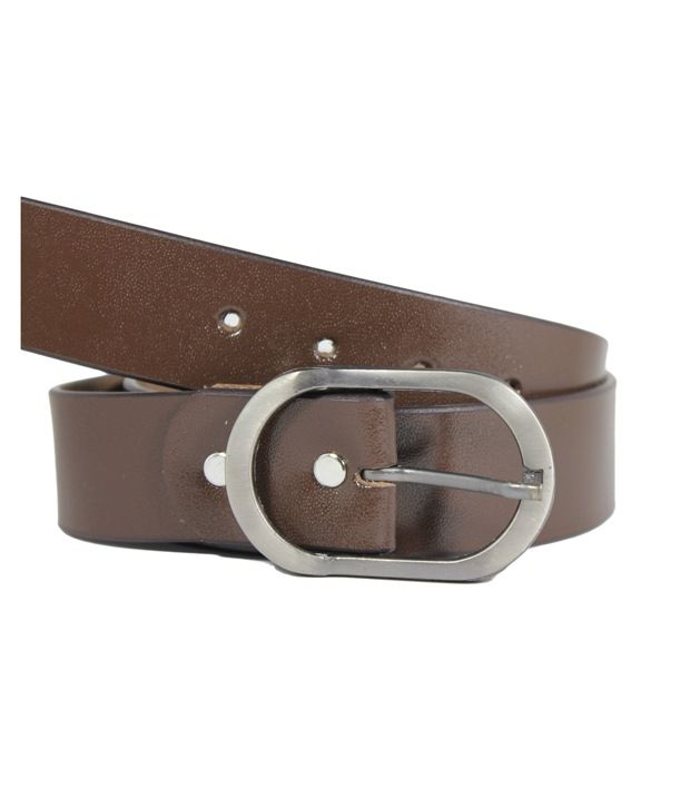 Hoa Brown Mens Casual Leather Belt