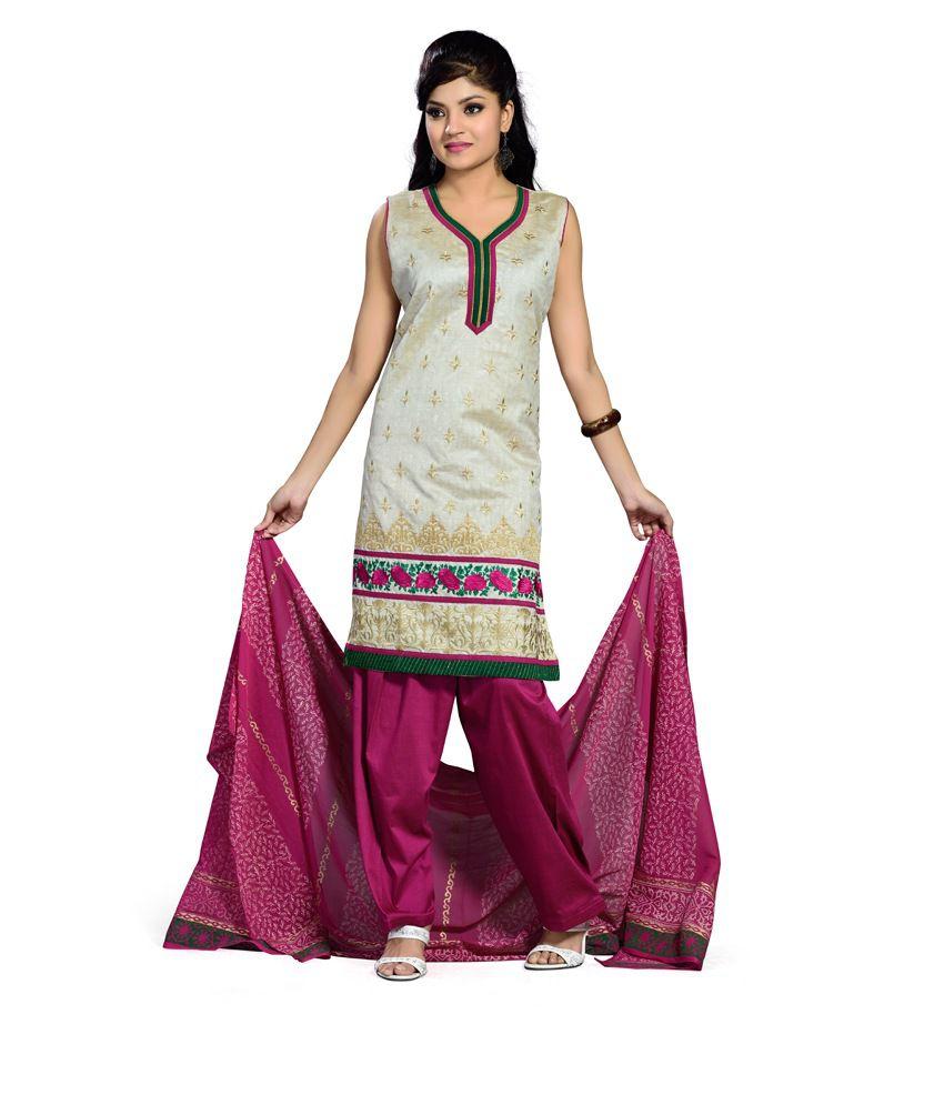 Ishin Prints Multicolor Embroidered Silk Regular Fit Salwar Suit