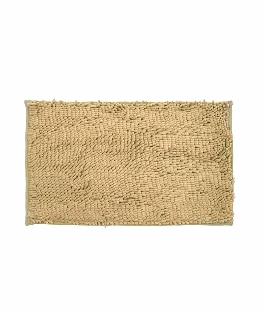 Just Linen Chenile Pom Pom Antiskid Almond Floor Mat