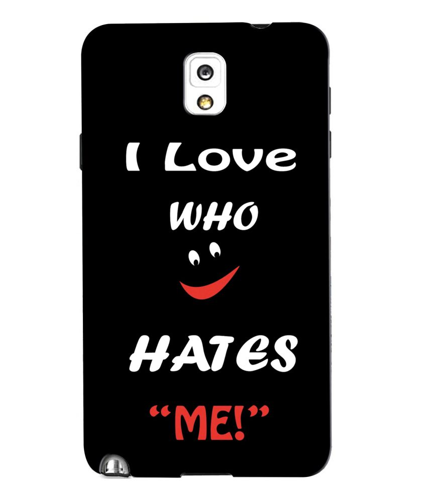 Snooky Back Cover Cases For Samsung Galaxy Note 3 Black