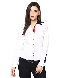 Dazzio White Cotton Shirts