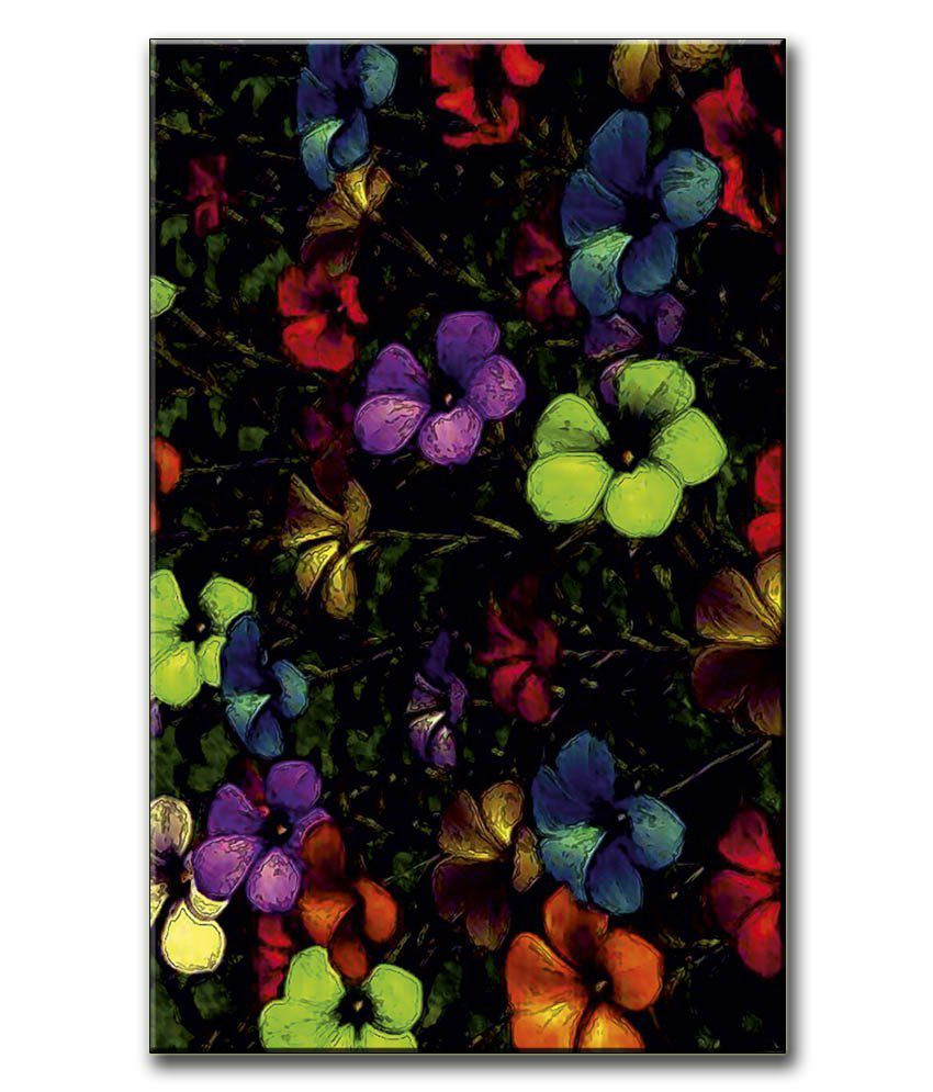 Anwesha's Gallery Wrapped Canvas Digital Print Wall Painting 12.5 X 20 Inch - Flower Paint