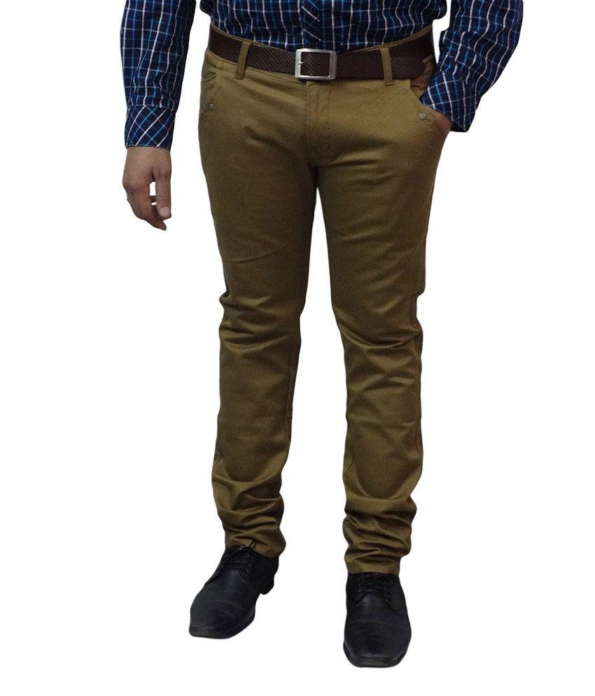 London Fox Beige Cotton Trouser