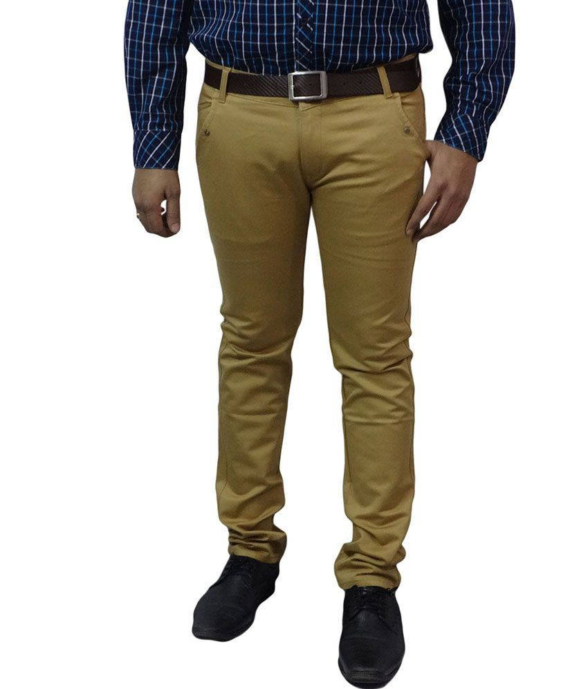 London Fox Gold Cotton Trouser