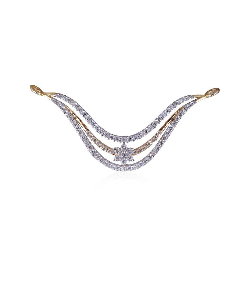 Jisha 18kt Gold Diamond Traditional Mangalsutra