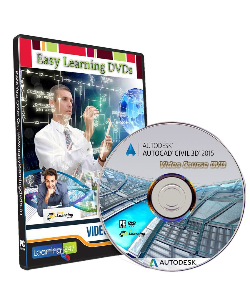 Learn AutoCAD Civil 3D 2015 Video Training Tutorial DVD By Easy Learning